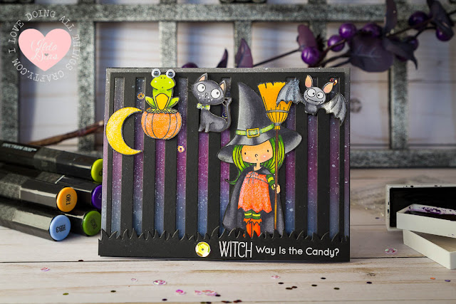 Witch Way is the Candy? Multi Slider Card - A Halloween Countdown Series