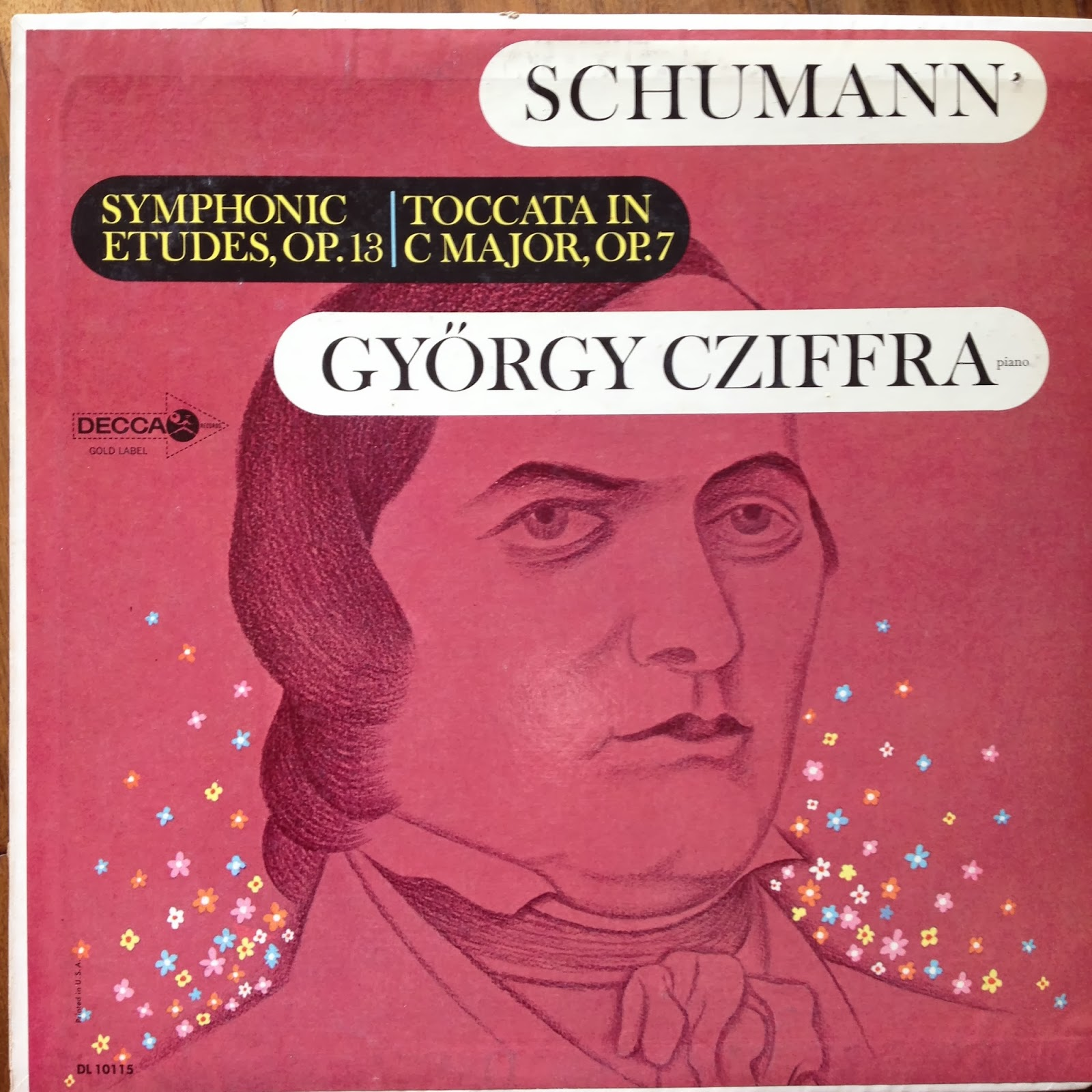 LP of Schumann, Etudes and Toccata