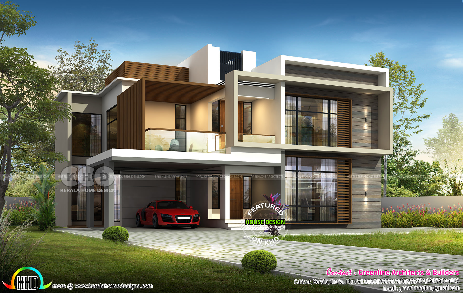 Fantastic 2801 Sq Ft 4 Bedroom House Plan In Modern Style Kerala Download Free Architecture Designs Terchretrmadebymaigaardcom