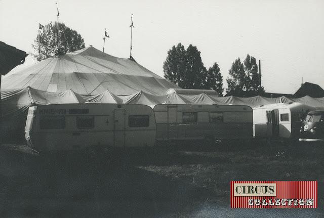 Chapiteau écuries et camping du Cirque National Suisse Knie  1970