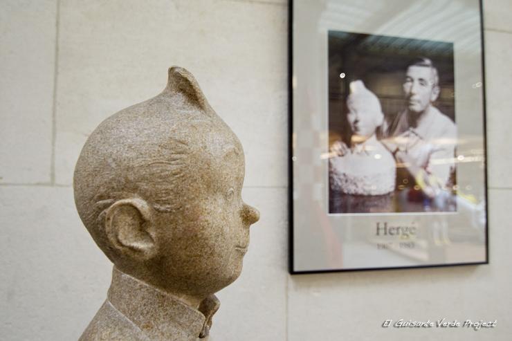 Tintín (busto) - Museo del Comic de Bruselas por El Guisante Verde Project