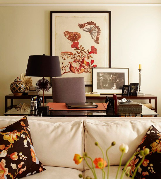 Living Spaces Office Furniture: My Many Moments: Botanical Print DIY