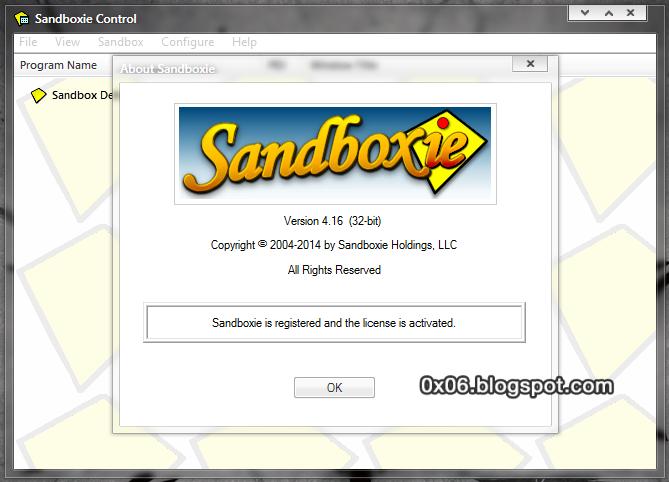 sandboxie licence key