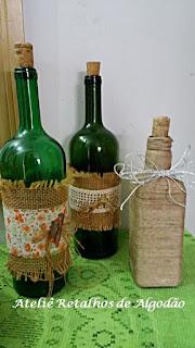reaproveitamento a garrafa para decoração de natal