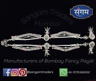Silver Brooch Anklet for wedding