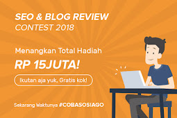 Coba SOSIAGO Influencer Marketing, Sebuah Kontes SEO