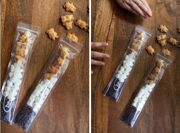 Cute little s'mores treat sacks: Use 5 of 12!