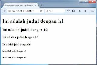 cara membuat judul heading - Cara Menciptakan Judul Atau Heading Di Html (Tag H1)