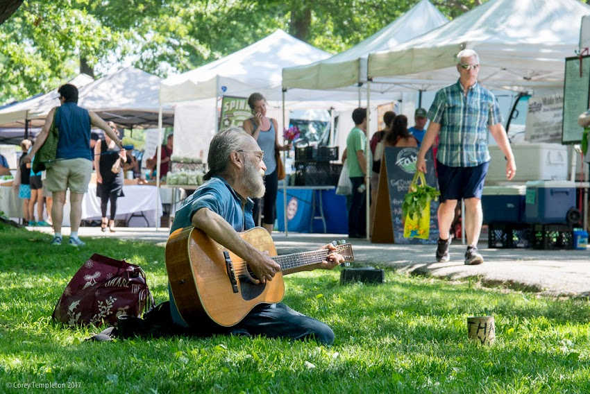 Portland, Maine USA July 2017 photo by Corey Templeton of the Portland Farmers' Market in Deering Oaks Park