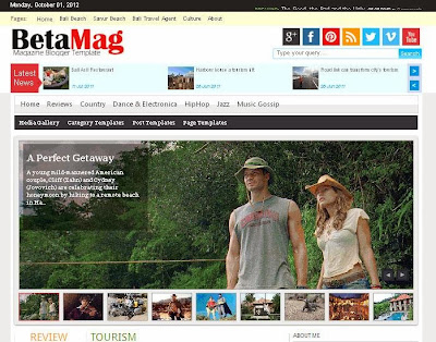 BetaMag Blogger Template