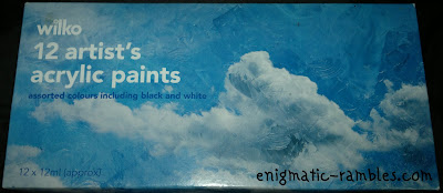 wilko-wilkinsons-artists-acrylic-paint-black-white-silver-selection
