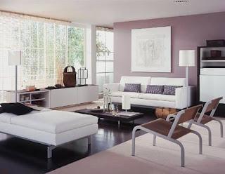 sala de estar lila
