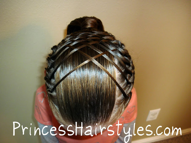 woven french braid ponytail hairstyles