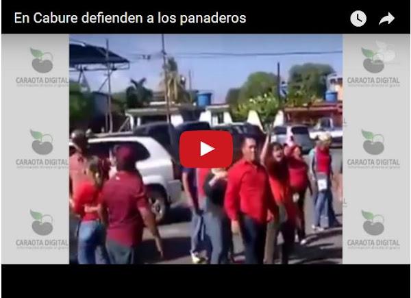 Falconianos botan a patadas a la gente del SUNDDE de una panadería