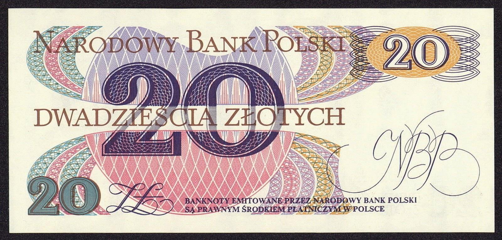 Poland 20 Zloty banknote