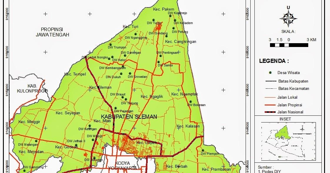 Peta Kabupaten Yogyakarta