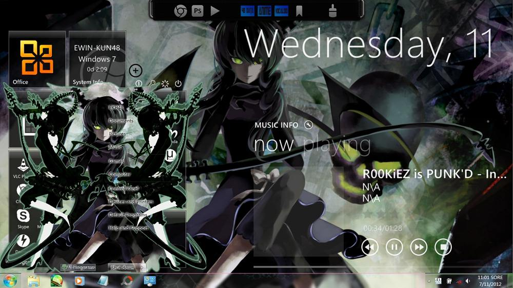 Bleach windows 7 theme youtube.