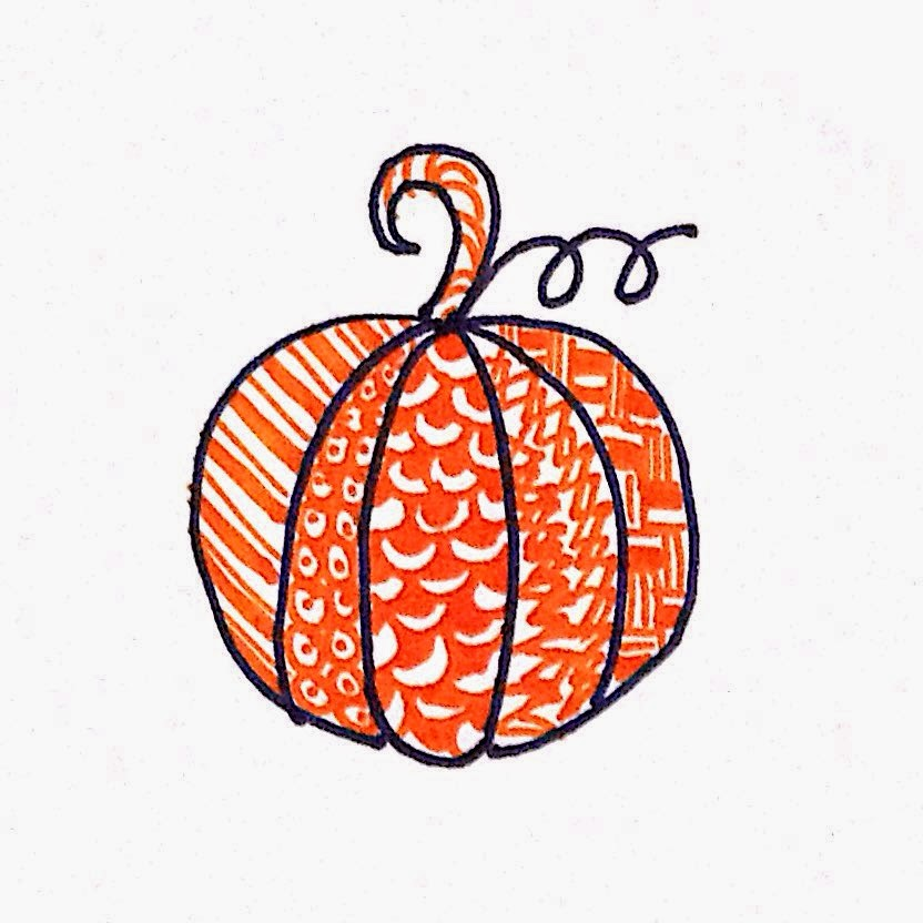 Zentangle Inspired Pumpkin