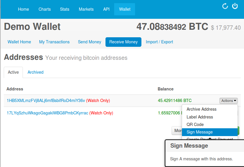 bitcoin wallet sign in