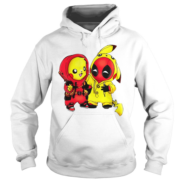 Pikachu Deadpool Hoodie, Pikachu Deadpool Sweatshirt, Pikachu Deadpool T Shirt