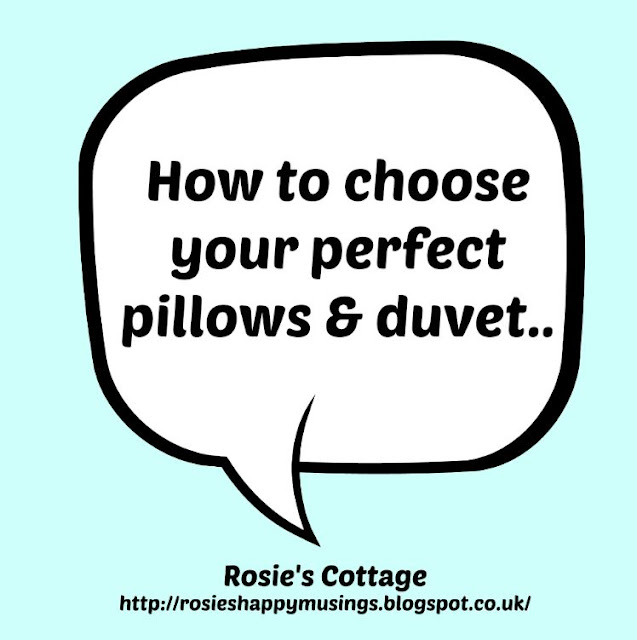 How to choose your perfect pillows and duvet...