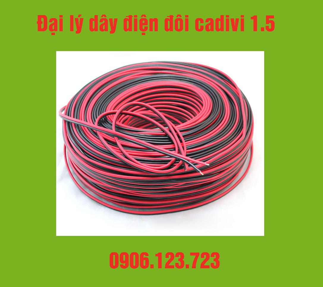 Dây điện đôi Cadivi 1.5 kèm giá và chiết khấu