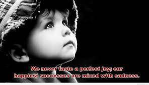 Cute Sad Baby Girl Wallpaper With Quotes