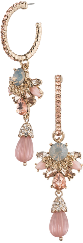 Marchesa Hoop Drop Earrings