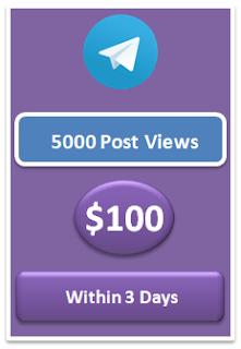 5000 telegram post views