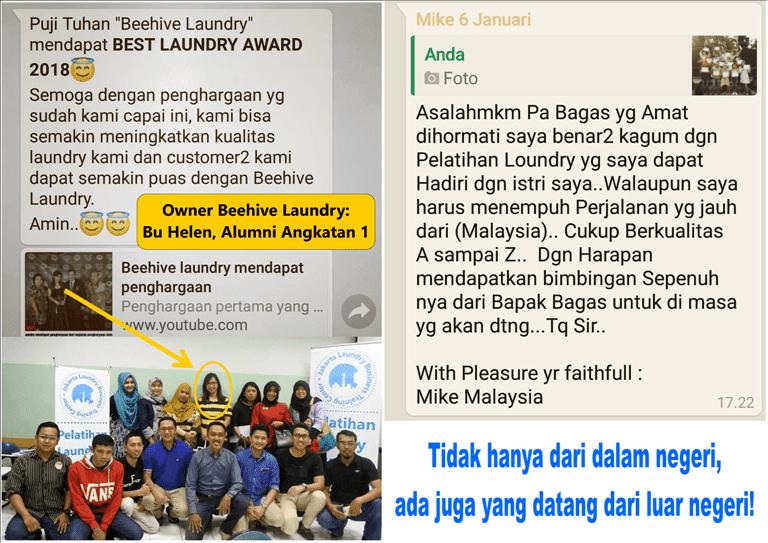 Pelatihan/Training Kursus Laundry Jakarta Bergaransi