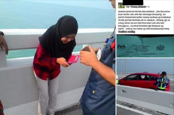 Luahan Terakhir Seorang Lelaki Sebelum Terjun Dari Jambatan Pulau Pinang
