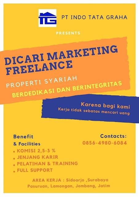 lowongan kerja marketing freelance Surabaya