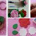 Lembrancinhas: Chaveiro com Flor - Molde para Imprimir