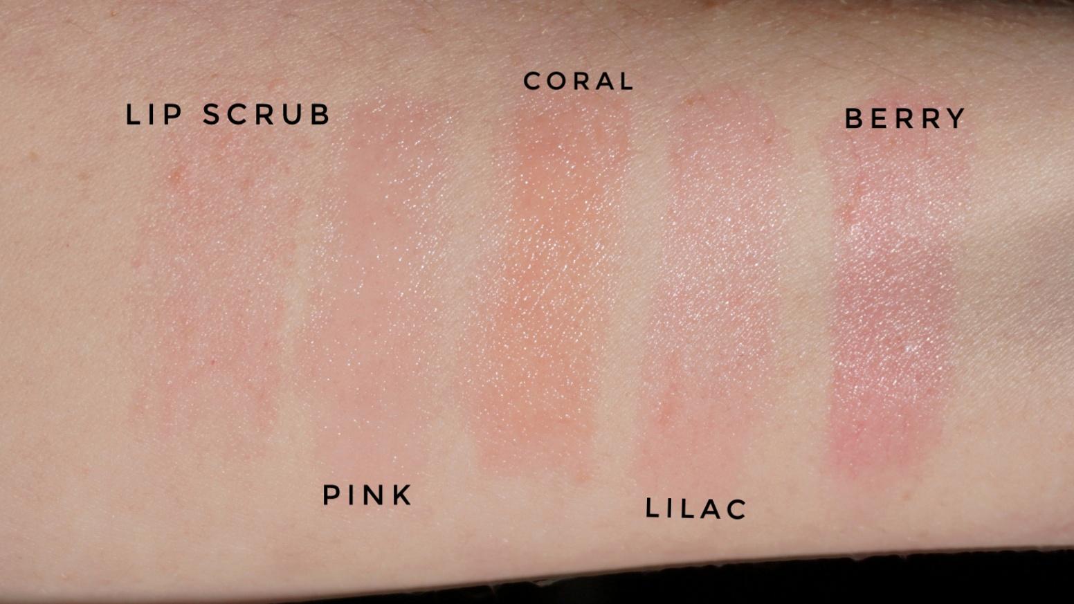 Dior Lip Glow Lip Scrub Swatches