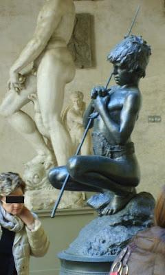 Voyage à Florence, Sculptures, pêcheur, Mercure, Vincenzo Genito, Bargello,