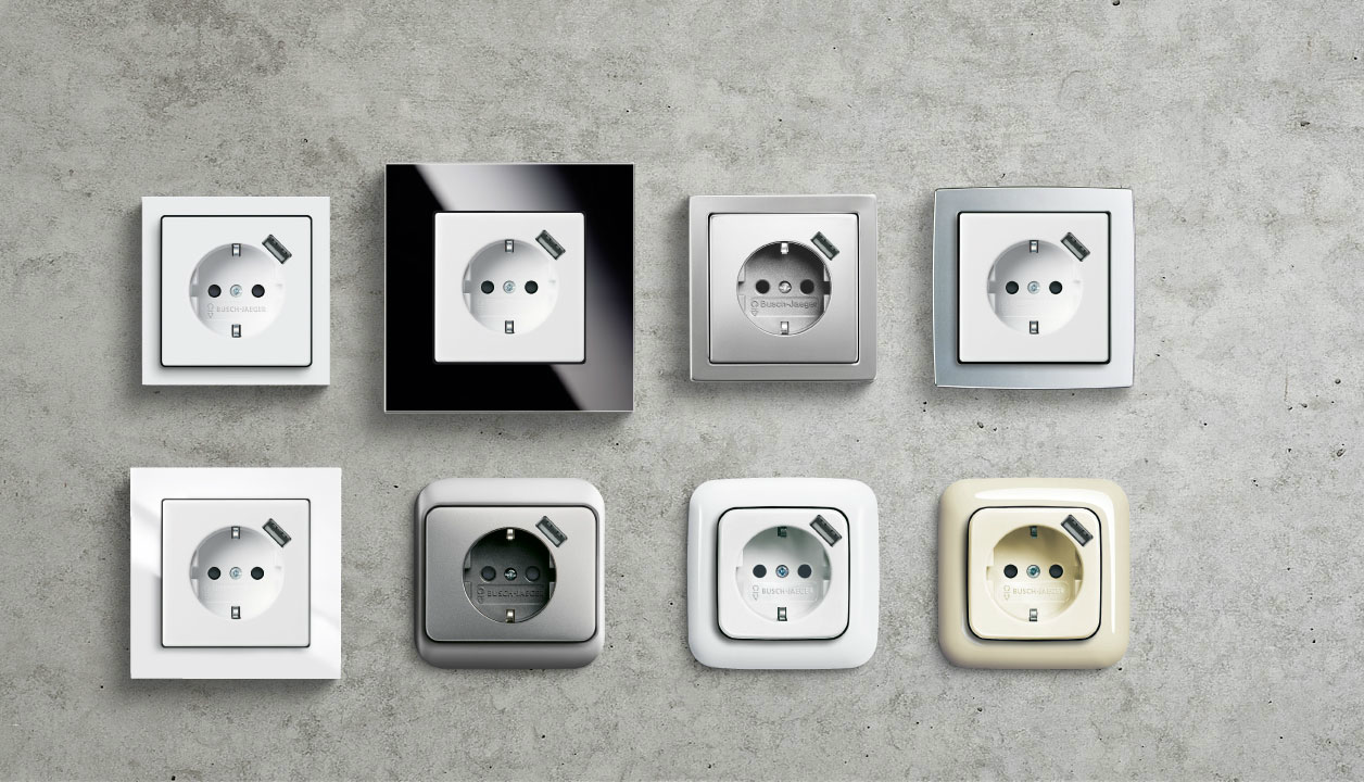 SCHUKO® USB socket outlet