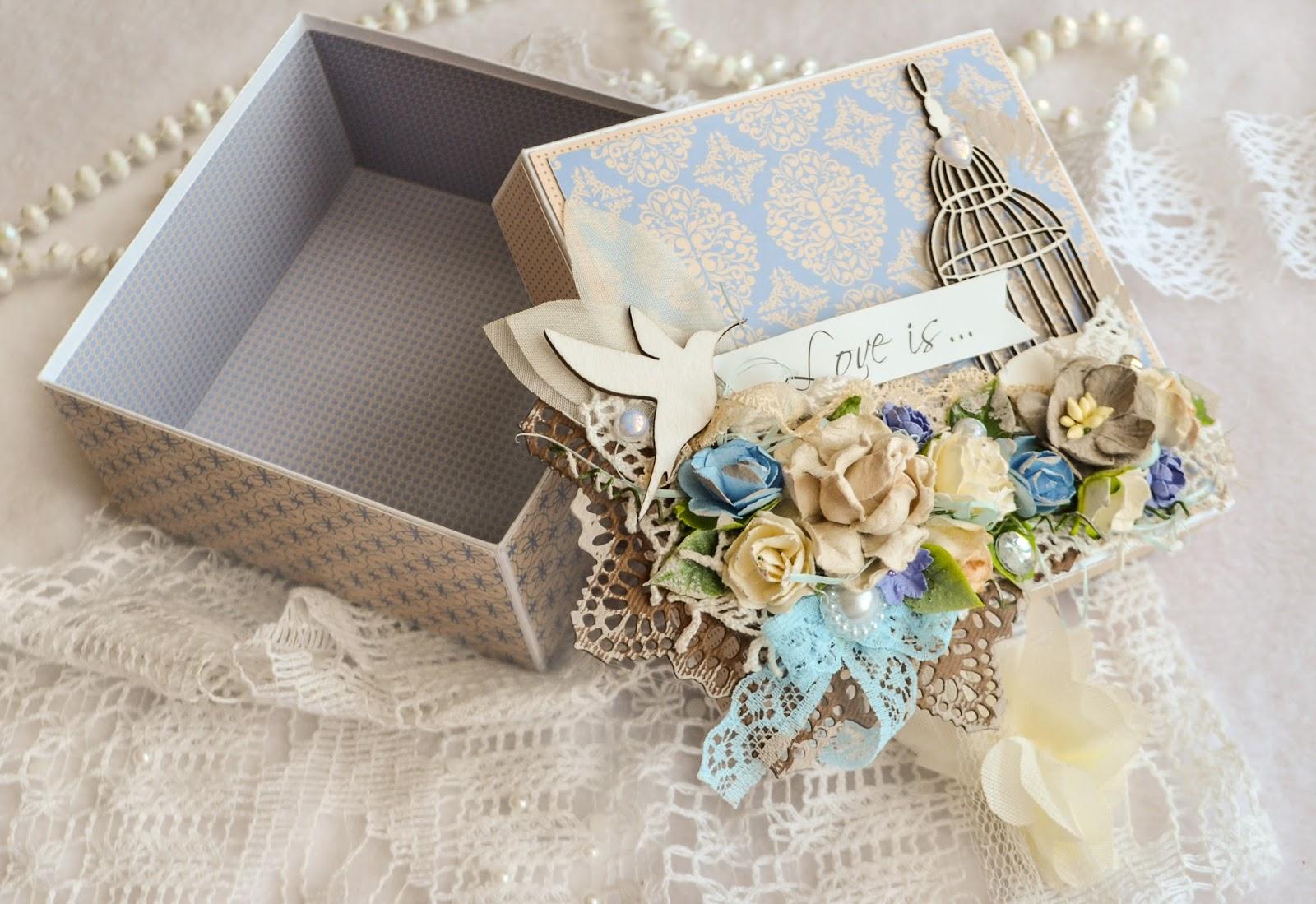 Коробочки для подарков скрапбукинг фото