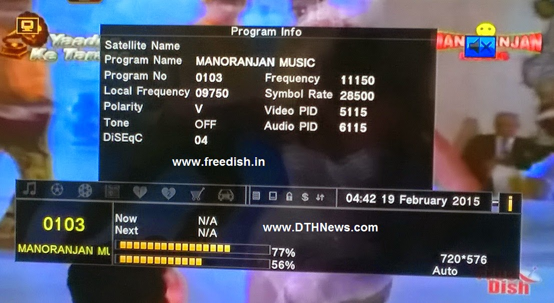 Manoranjan Music TV Channel Added on DD Direct Plus DTH