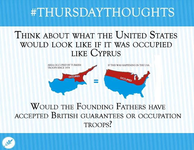 Σκέψου πως θα ήταν οι Η.Π.Α. αν είχαν εισβάλει οι τούρκοι όπως στην Κύπρο...