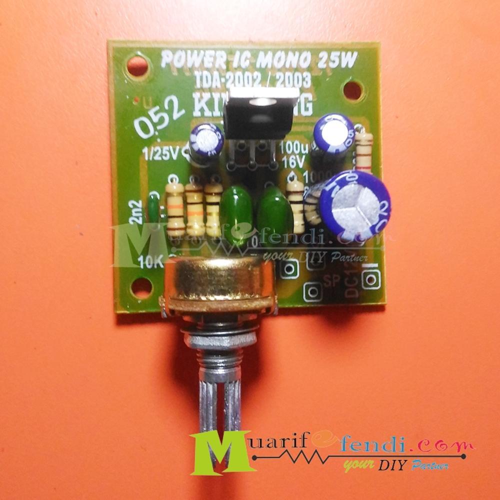 Jual Kit Power Amplifier 25watt Ic Tda2003 2004 2002 Kingkong Your Mono Audio Circuit Using Tda2002