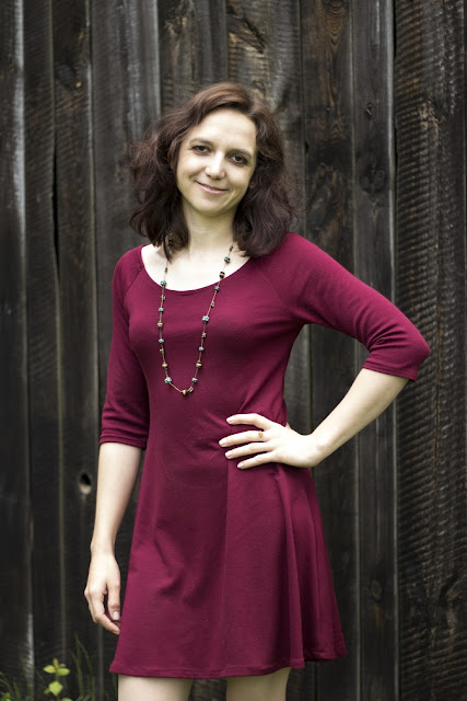 Raglankleid Toni - einfacher Schnitt - für Anfänger - nähen mit elastischen Jersey Stoffen - Milchmoster - Kleid nähen - Schnittmuster