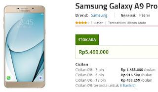 Samsung Galaxy A9 Pro Agustus 2017 Turun Harga Jadi 5 Jutaan