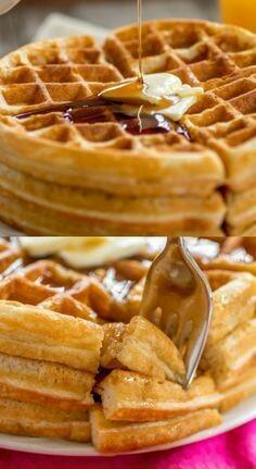 14. Waffle mentega keemasan