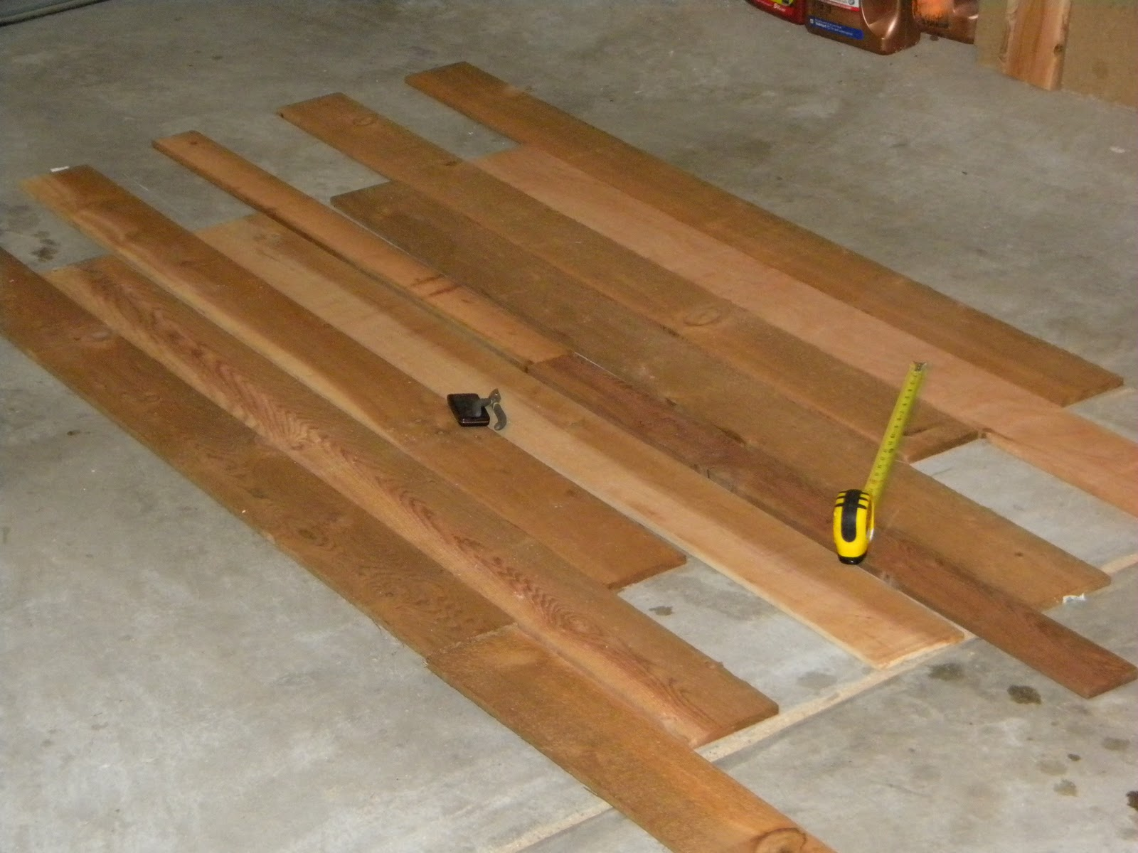 Pictures of Cedar Plank Table Pieces
