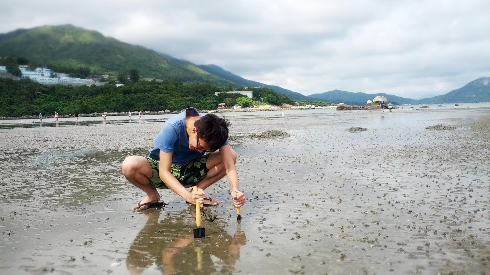 Kay is blogging hard...: 【香港戶外】一年一度的掘蜆日