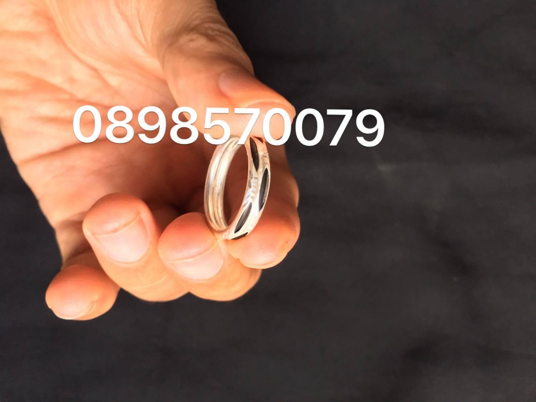 Nhẫn lông voi đôi so le bạc 925. Giá bán 280K
