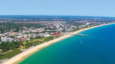 Bournemouth beach in the United Kingdom