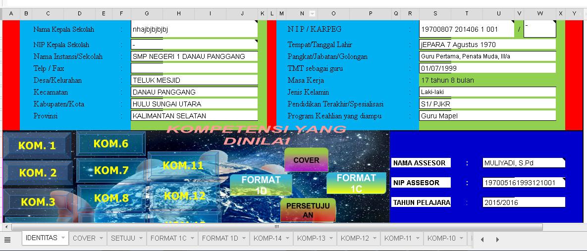 Aplikasi PKG Guru Terbaru Berbasis Excel