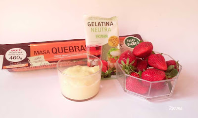 ingredientes tarta de fresas