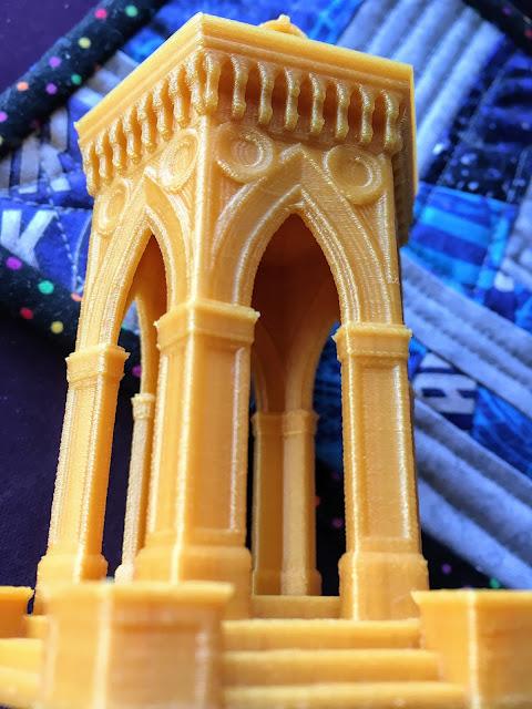3D printed stone gazebo via foobella.blogspot.com